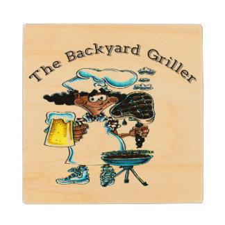 Back Yard Griller Dad Wood Coaster