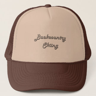 Backcountry Skiing Classic Retro Design Trucker Hat