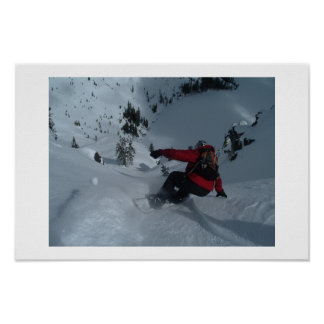 Backcountry Snowboarding Poster