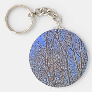 Backdrop Blue Basic Round Button Key Ring