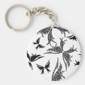Backdrop Themed Basic Round Button Key Ring