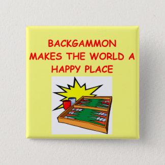 backgammon 15 cm square badge