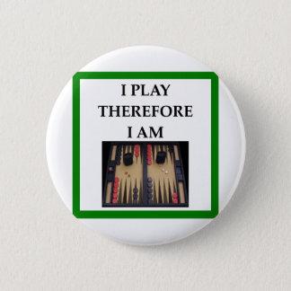 backgammon 6 cm round badge