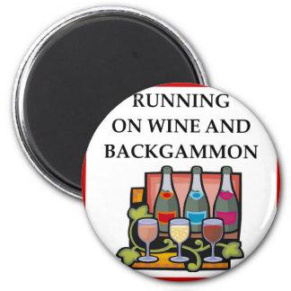 BACKGAMMON 6 CM ROUND MAGNET