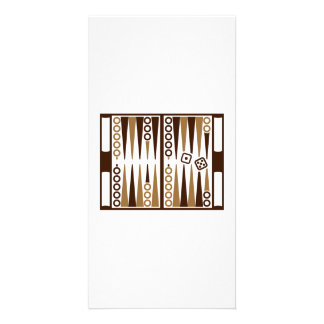 Backgammon board photo cards