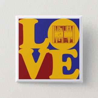Backgammon Love 15 Cm Square Badge