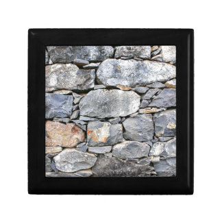 Backgound of natural stones as wall gift box