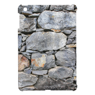 Backgound of natural stones as wall iPad mini case