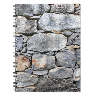 Backgound of natural stones as wall notebook