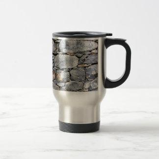 Backgound of natural stones as wall travel mug