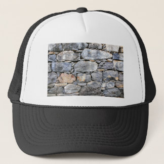 Backgound of natural stones as wall trucker hat