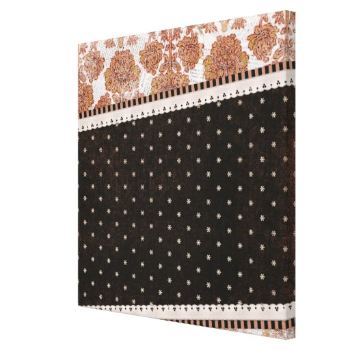 background10 SCRAP-BOOKING PATTERNS FLOWERS FLORAL Gallery Wrap Canvas