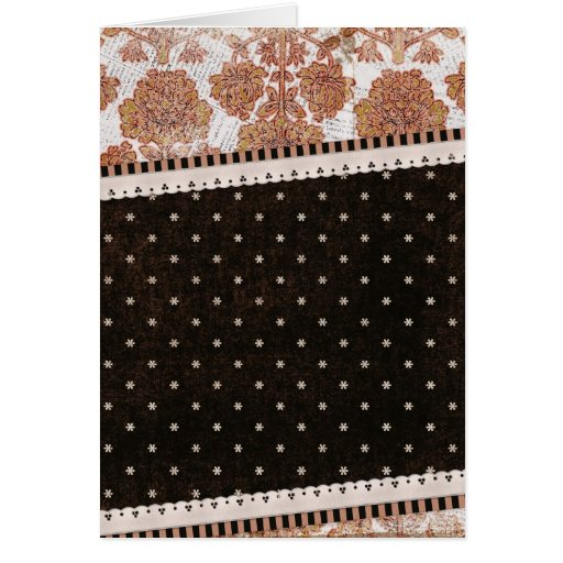 background10 SCRAP-BOOKING PATTERNS FLOWERS FLORAL Greeting Cards