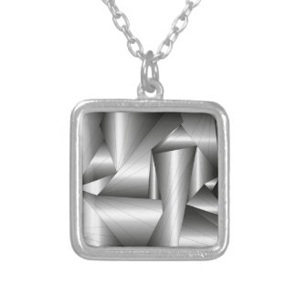 background #36 silver plated necklace