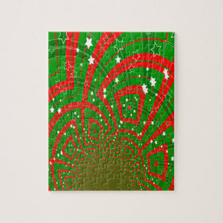 background abstract christmas pattern puzzle