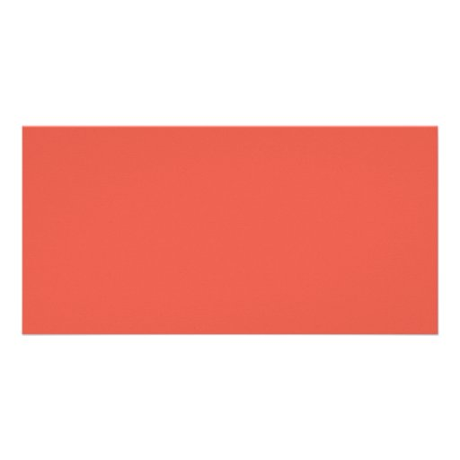 Background Color - Coral Personalized Photo Card