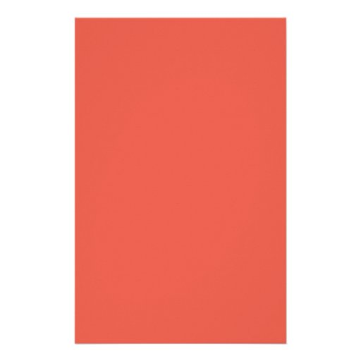 Background Color - Coral Stationery Paper