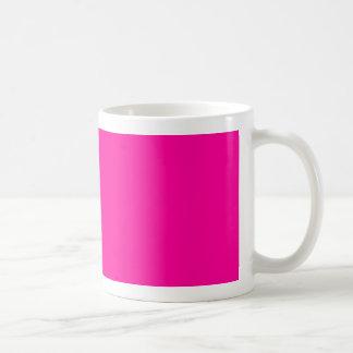 Background Color FF0099 Fuchsia Magenta Hot Pink Basic White Mug