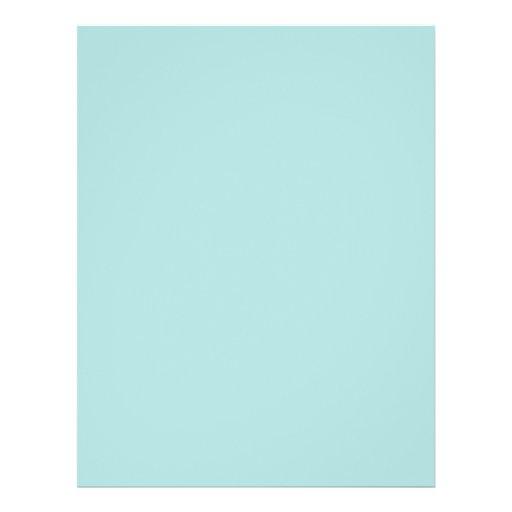 Background Color - Robins Egg Blue Flyer Design