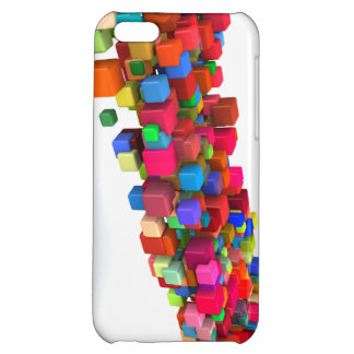 Background Design with Colorful Rainbow Blocks Cover For iPhone 5C
