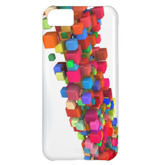 Background Design with Colorful Rainbow Blocks iPhone 5C Case