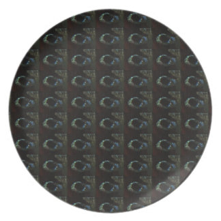Background DIY Text Template Black Silver Rings Dinner Plates