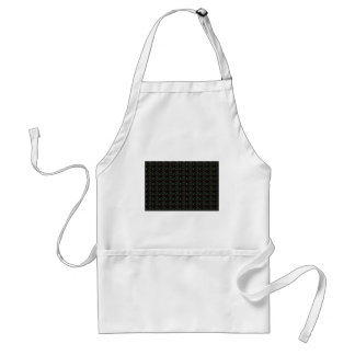 Background DIY Text Template Black Silver Rings Standard Apron