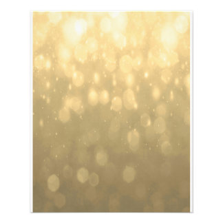 Background - Gold Bokeh Glitter Lights 11.5 Cm X 14 Cm Flyer