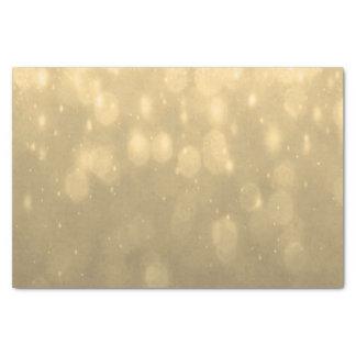 Background - Gold Bokeh Glitter Lights Tissue Paper