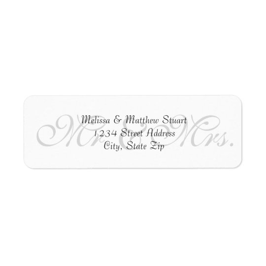 Background Grey - Address Labels