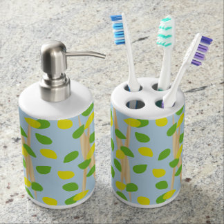 Background Melody Soap Dispenser And Toothbrush Holder