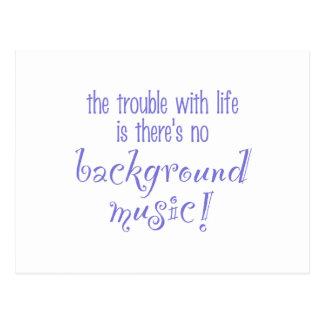 Background Music Postcard