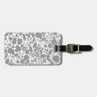 Background of a part of a body luggage tag