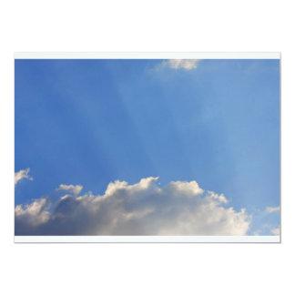 Background of blue sky. 13 cm x 18 cm invitation card
