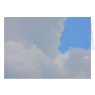 Background of blue sky and clouds. greeting card