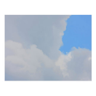 Background of blue sky and clouds. postcard