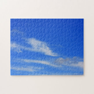 Background of blue sky. jigsaw puzzles