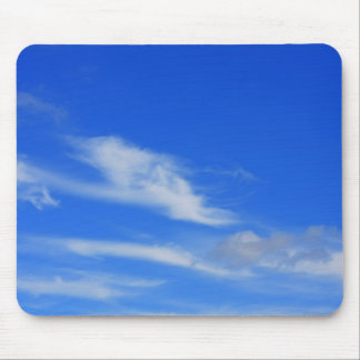 Background of blue sky mouse pad