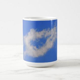 Background of blue sky. mug