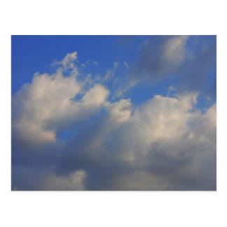 Background of blue sky. postcard