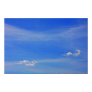 Background of blue sky. poster