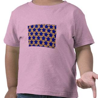 Background of blue stars shirts