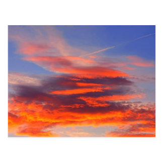 Background of colourful sky. postcard