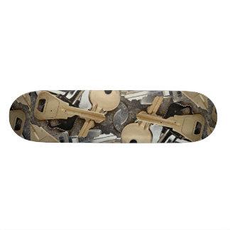 Background of keys skate board decks