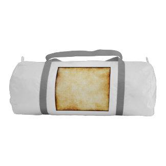 background - Parchment Paper Gym Duffel Bag