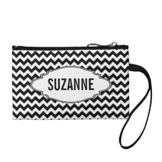 Background Pattern with Tag and Personalization Coin Purse