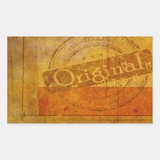 Background Rectangular Sticker