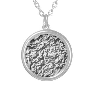 background texture silver plated necklace
