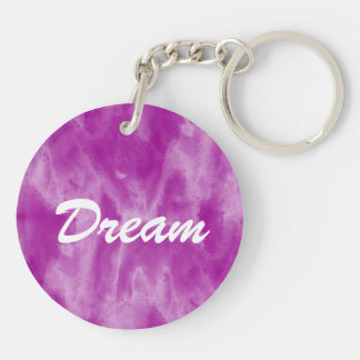 background texture watercolor purple seamless Double-Sided round acrylic key ring