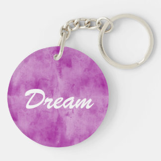 background texture watercolor seamless purple Double-Sided round acrylic key ring